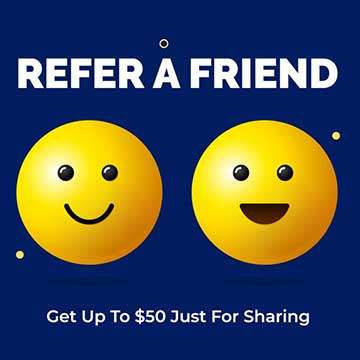refer a friend and get $50 off of your rent
