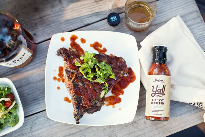 Henry Bain BBQ Sauce with meal