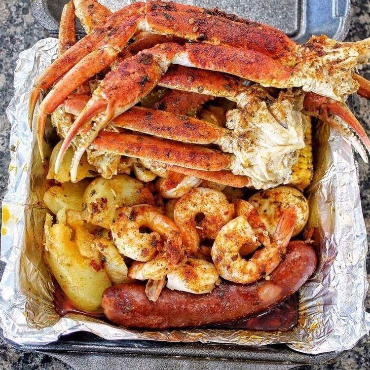 seafood platter from one of san antonio's top food trucks