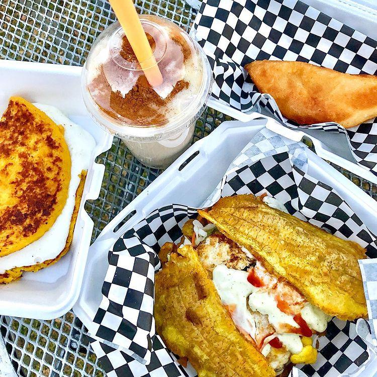 venezuelan meal from popular san antonio food truck