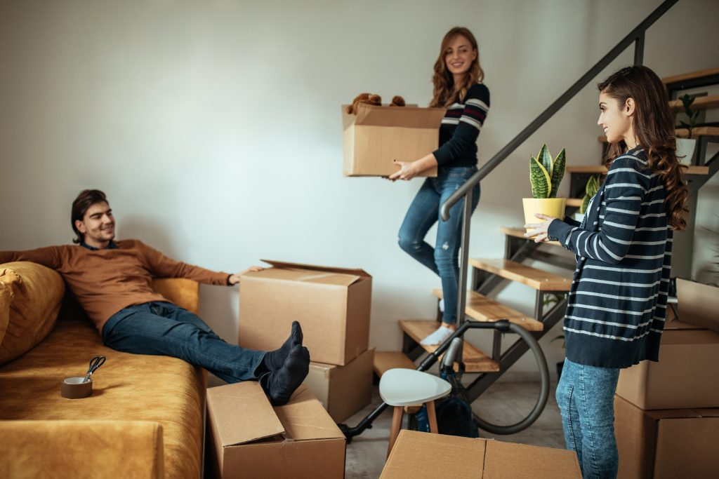 first apartment people post college life