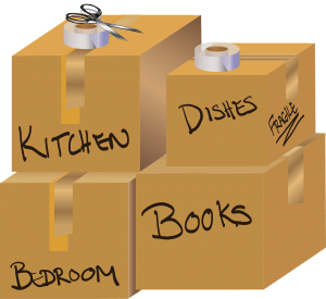 Labeled moving boxes