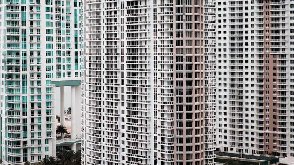 Apartment buildings in Miami