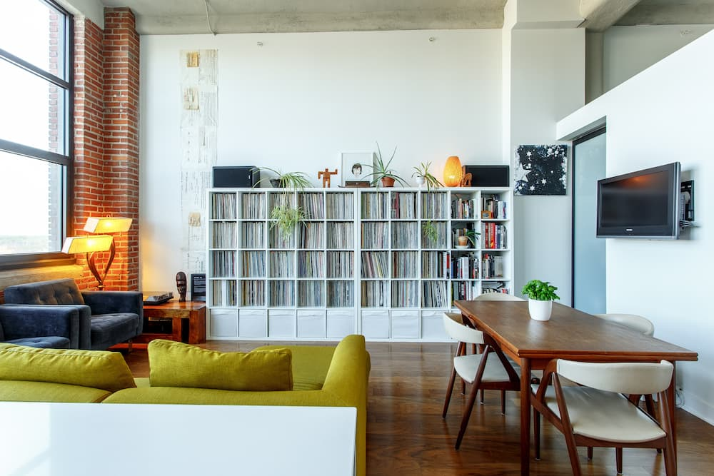 maximizing space in a small apartment with shelving