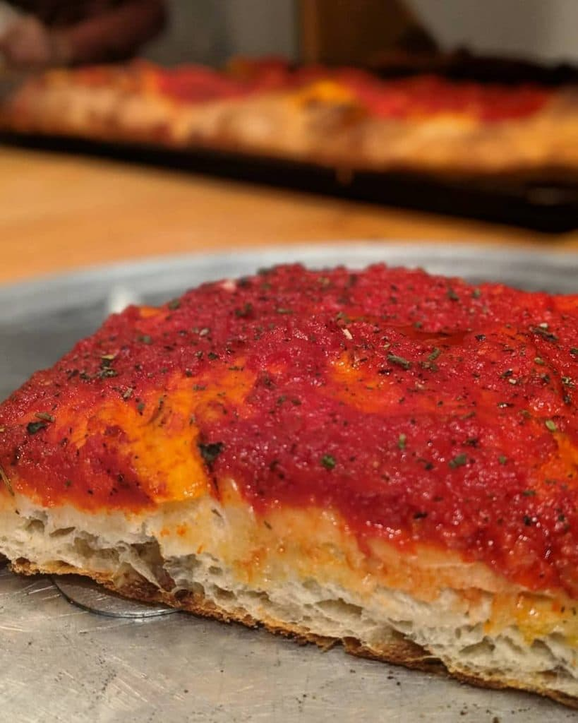 tomato pie philly food at pizza shackamaxon