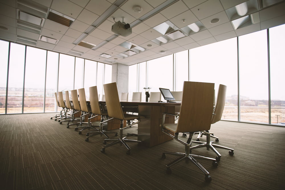 plain office conference room for a business moving to this location