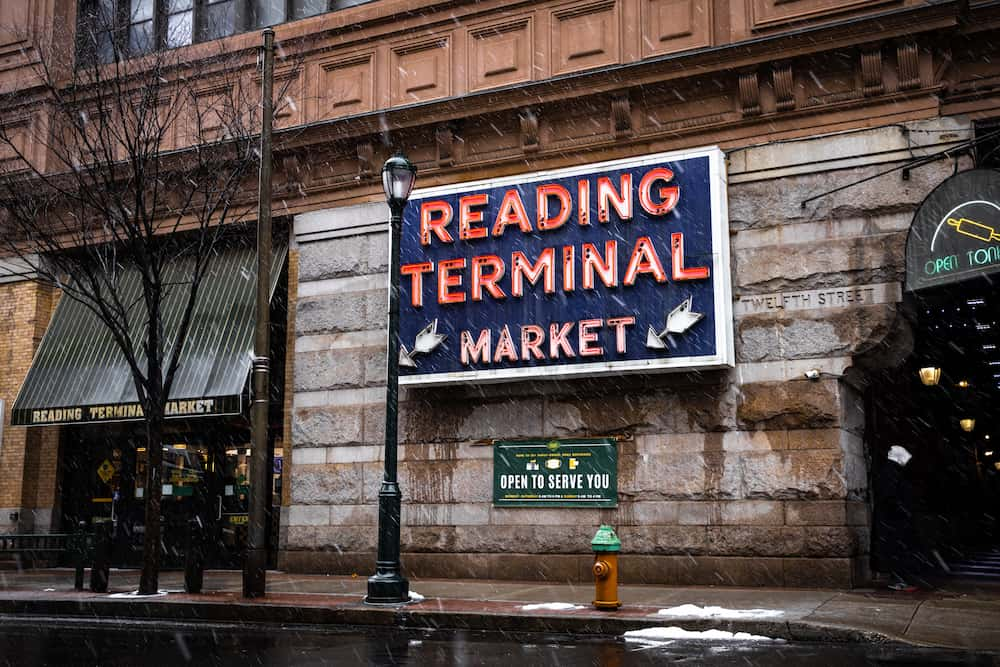 Reading terminal market sign-a great place to find the best casual dining in philadelphia
