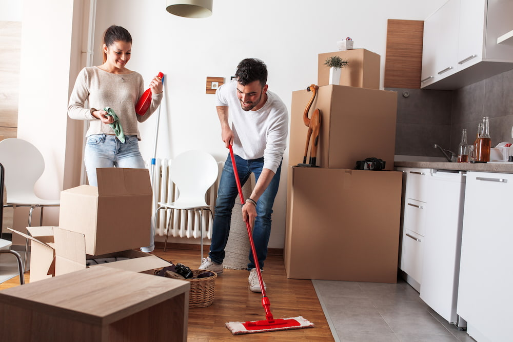 moving tip-cleaning your new house