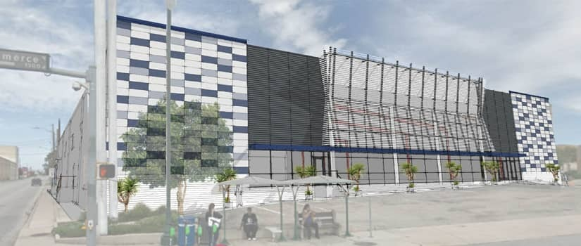 Artist's rendering of remodeled Store Space Self Storage Facility in San Antonio, unveiling in 2021.