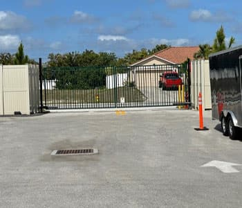 Access gate to storage facility in cape coral