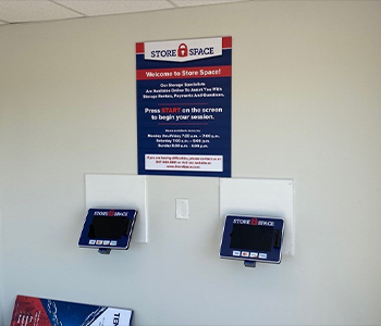 Self service kiosks for storage rental in Minooka Illinois