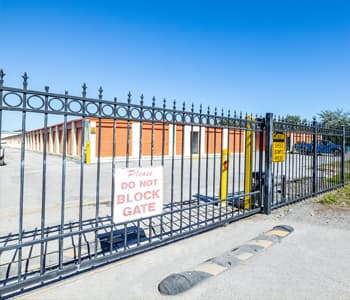 Security gate for secure access to storage units