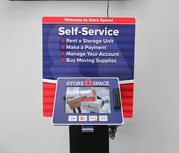 self service kiosk for renting storage units