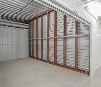 inside of a climate controlled self storage unit in sugar land texas